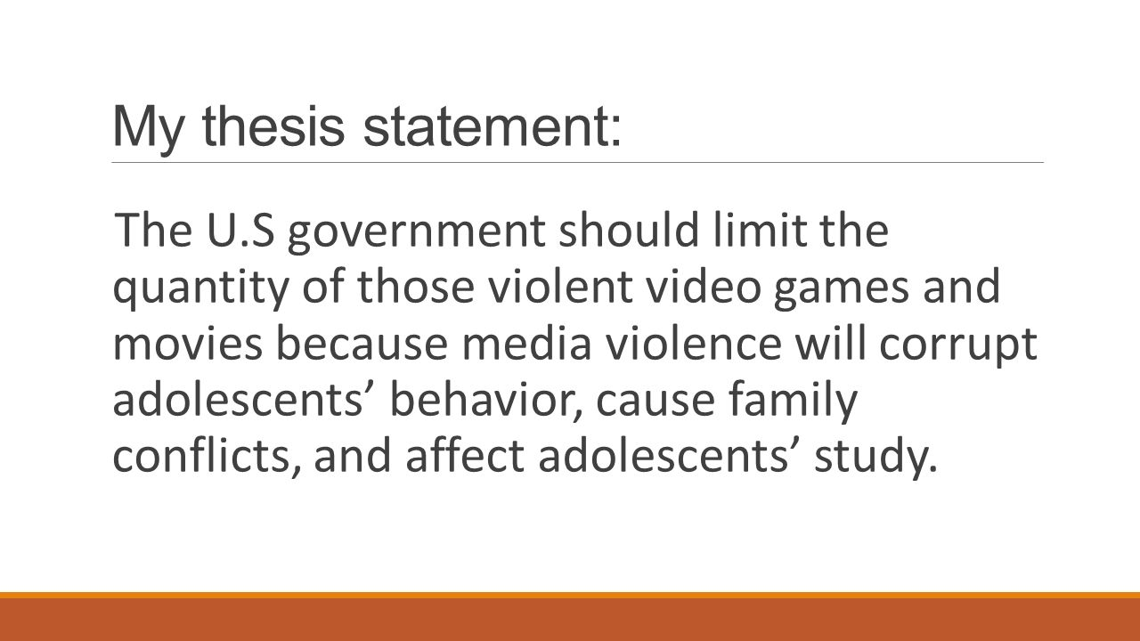 thesis statement on television violence