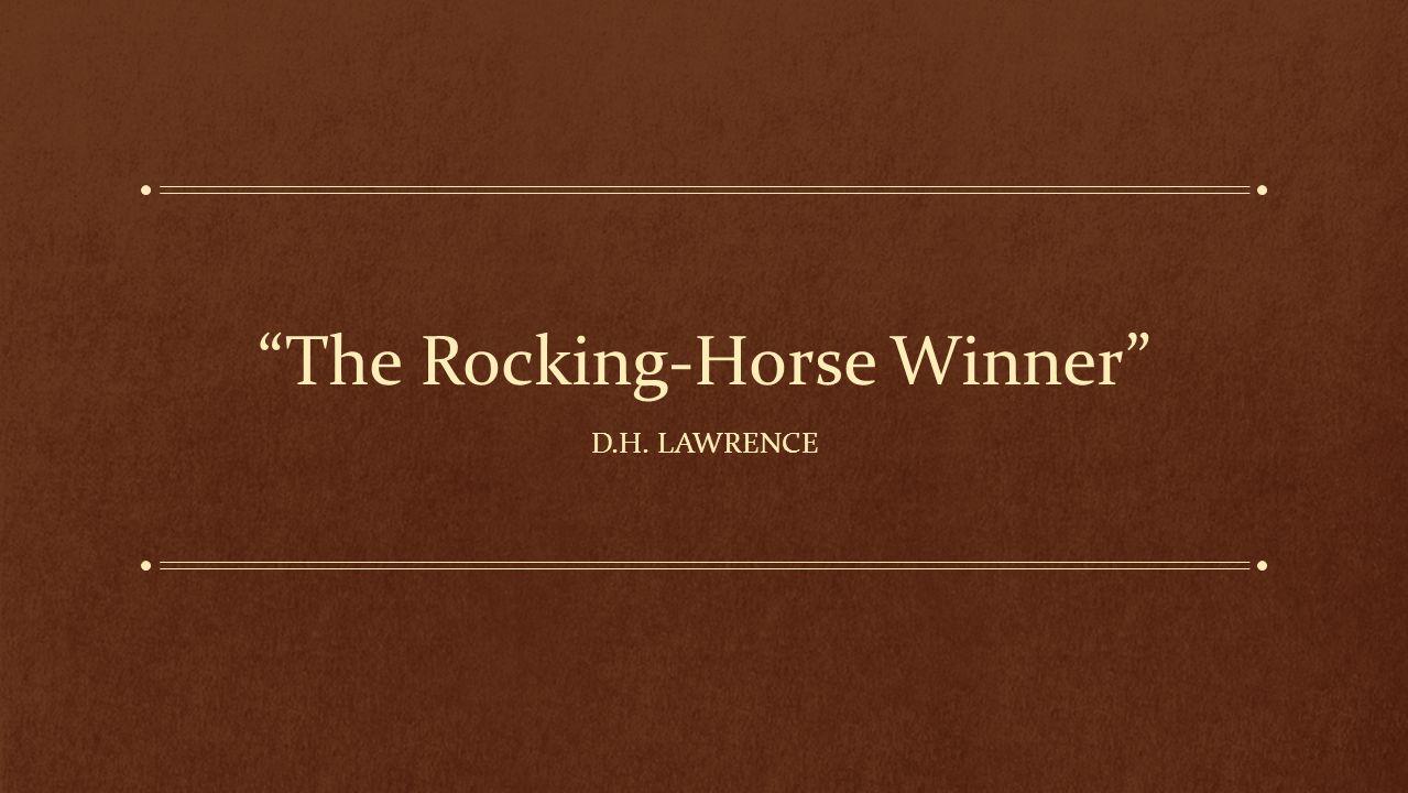 the rocking horse winner theme analysis