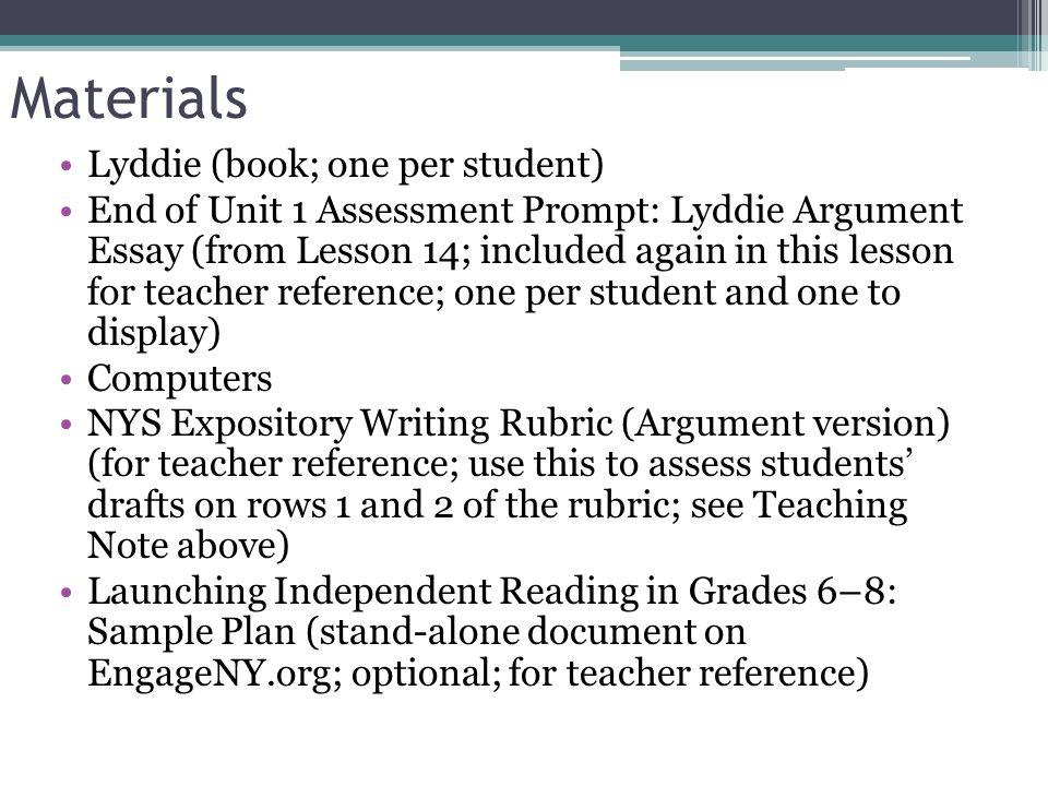 lyddie persuasive essay