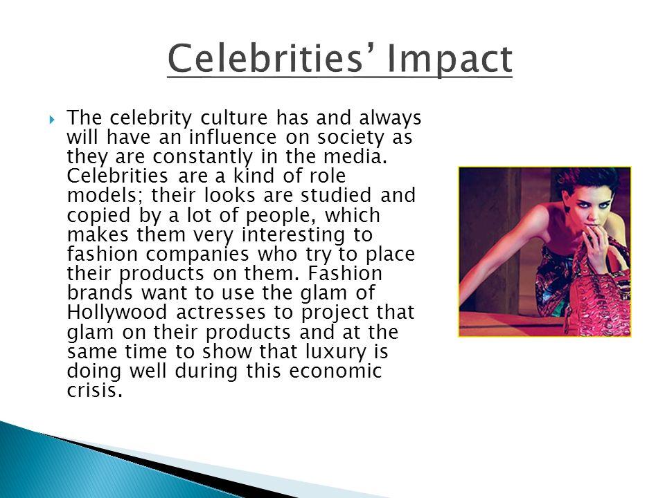 celebrities impact on society