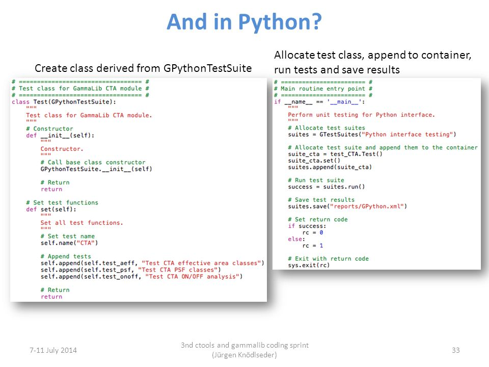 And in Python.