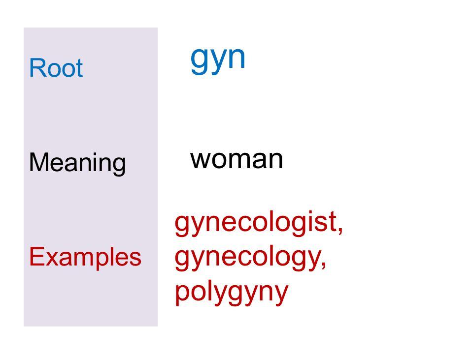 Root Meaning Examples viv, vita, vivi revive, survive, vivid