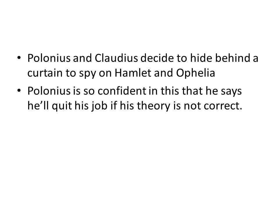 what did polonius hide behind