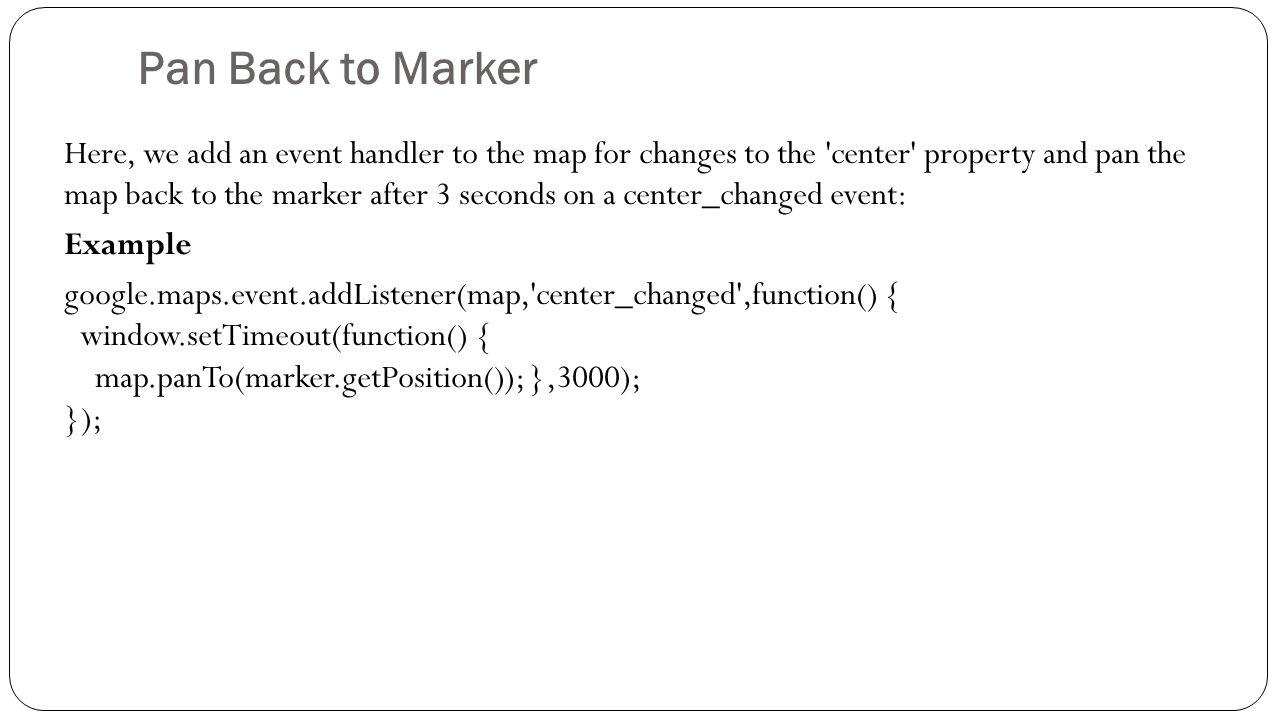 Google Maps API  Contents: 1  Google Maps API Key 2  Create