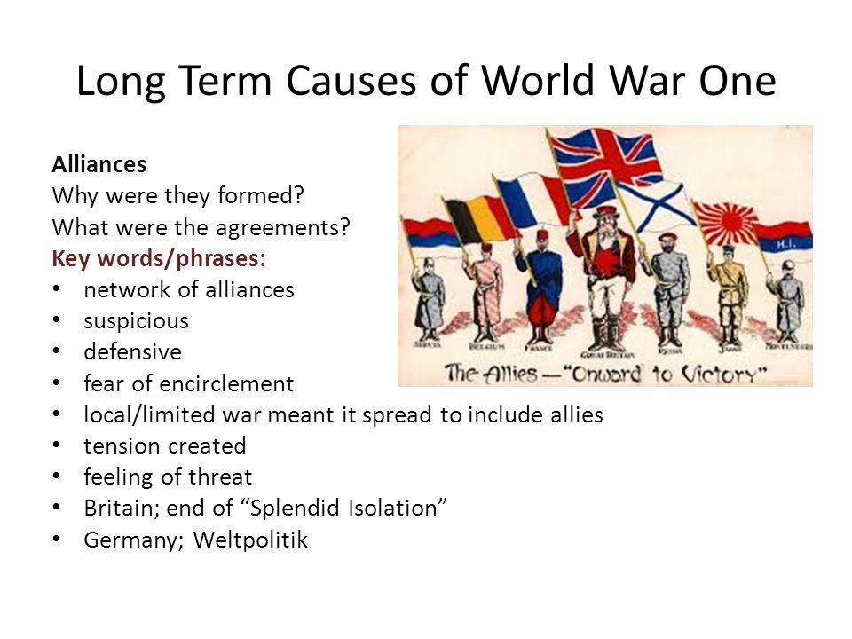 discuss the causes of world war i essay Essay on world war ii (566 words )  hider was one of the greatest causes of world war ii although there are many other reasons, he was definitely one of them  our mission is to provide an online platform to help students to discuss anything and everything about essay this website includes study notes, research papers, essays, articles.