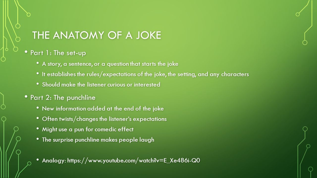 JOKES AND PUNS USING LANGUAGE TO MAKE PEOPLE LAUGH. - ppt download