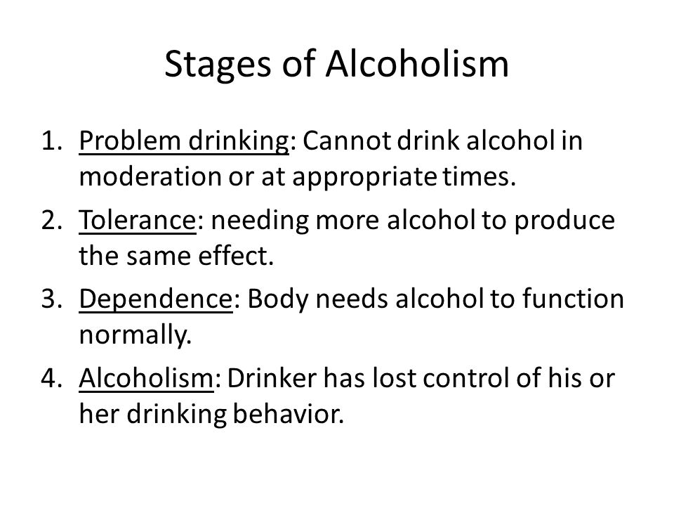 problem drinker signs and symptoms