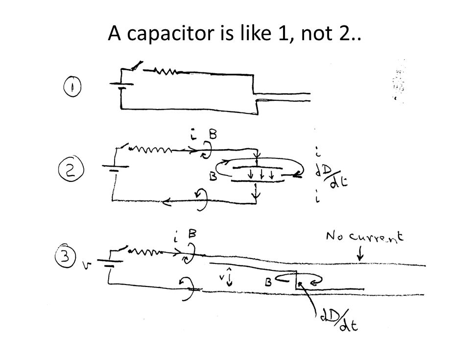 A capacitor is like 1, not 2..