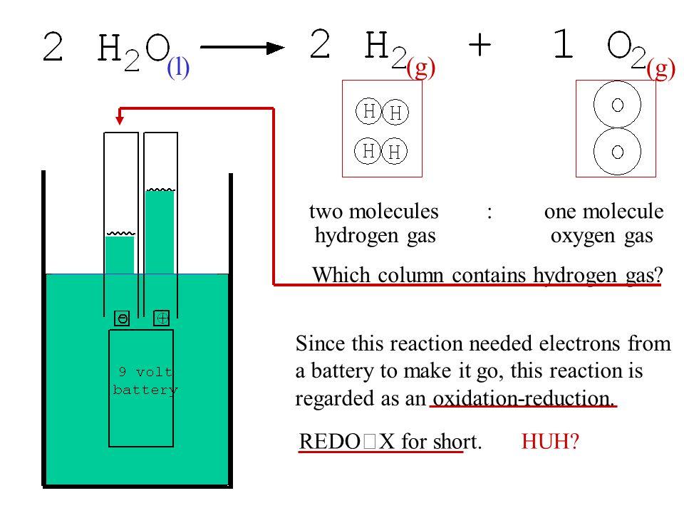 L G Two Molecules One Molecule Hydrogen Gas Oxygen Since