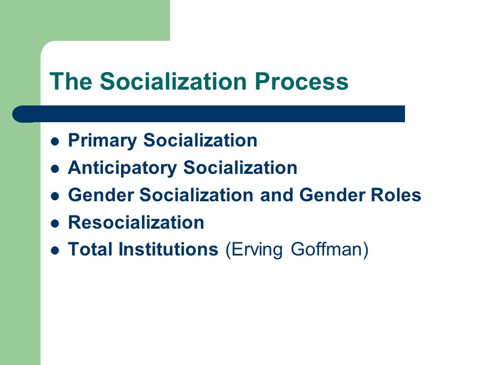 process of gender socialization