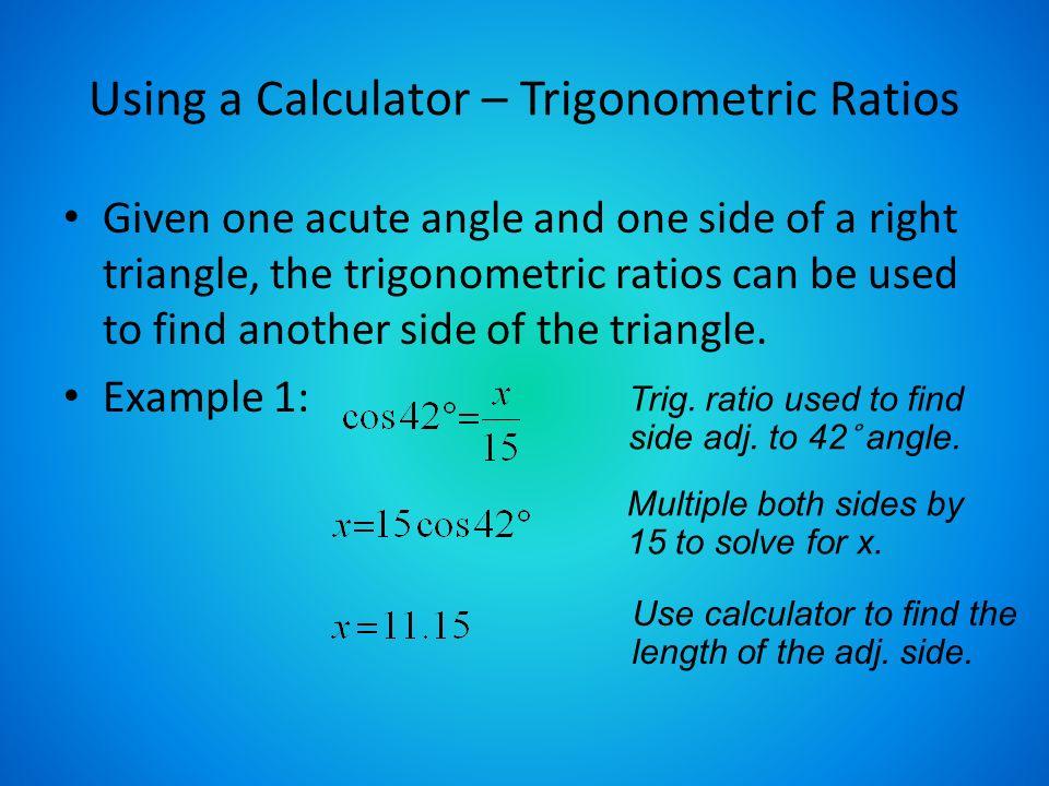 Review – Right Triangle Trigonometry. Objectives Find trigonometric ...