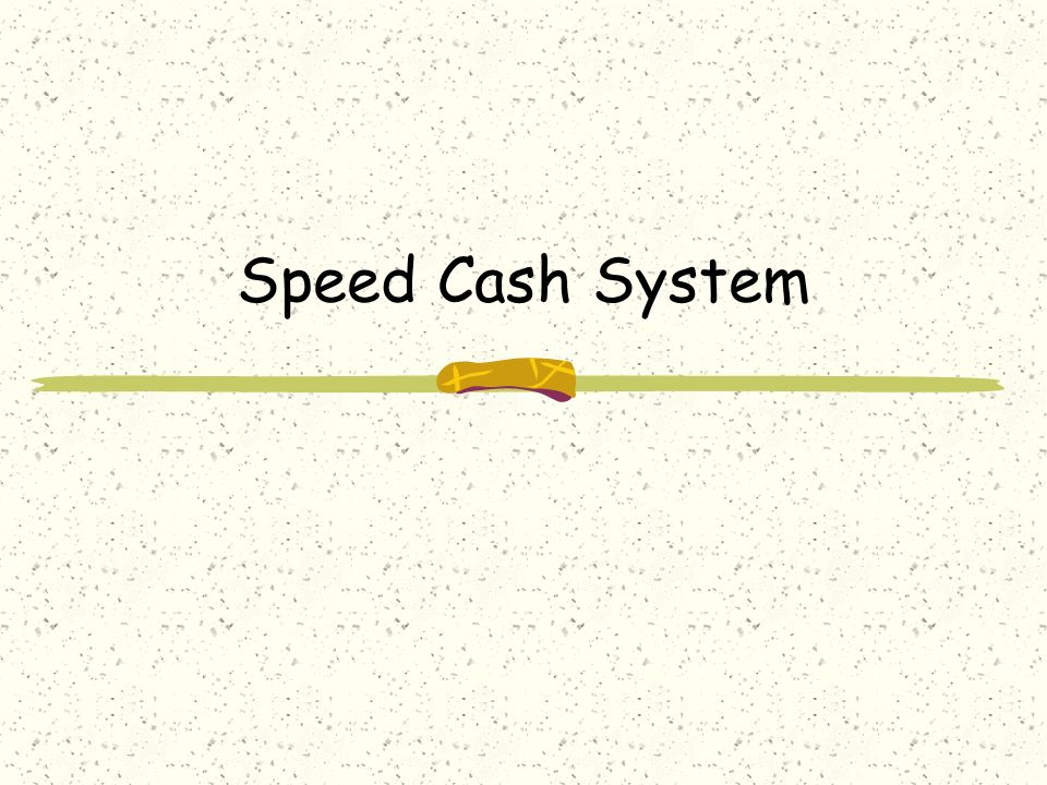 Speed Cash System  Purpose of the Project  online Banking