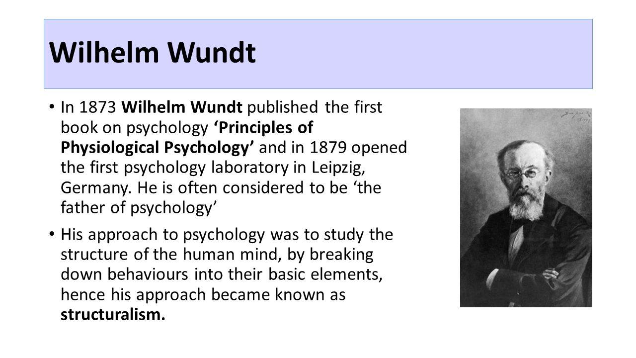 wilhelm wundt structuralism
