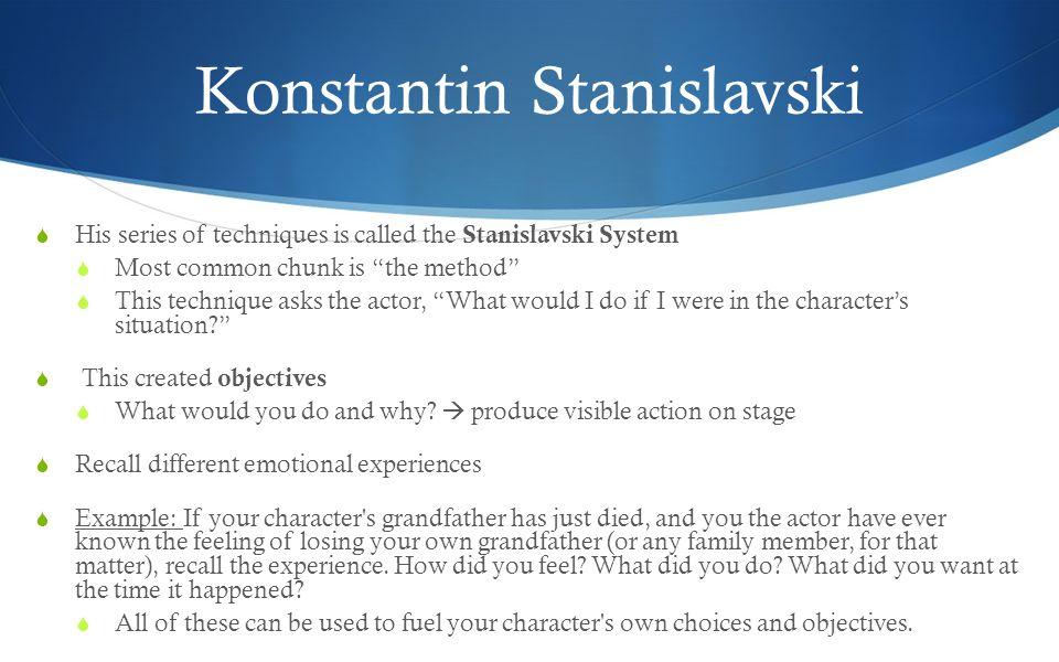 stanislavski acting techniques
