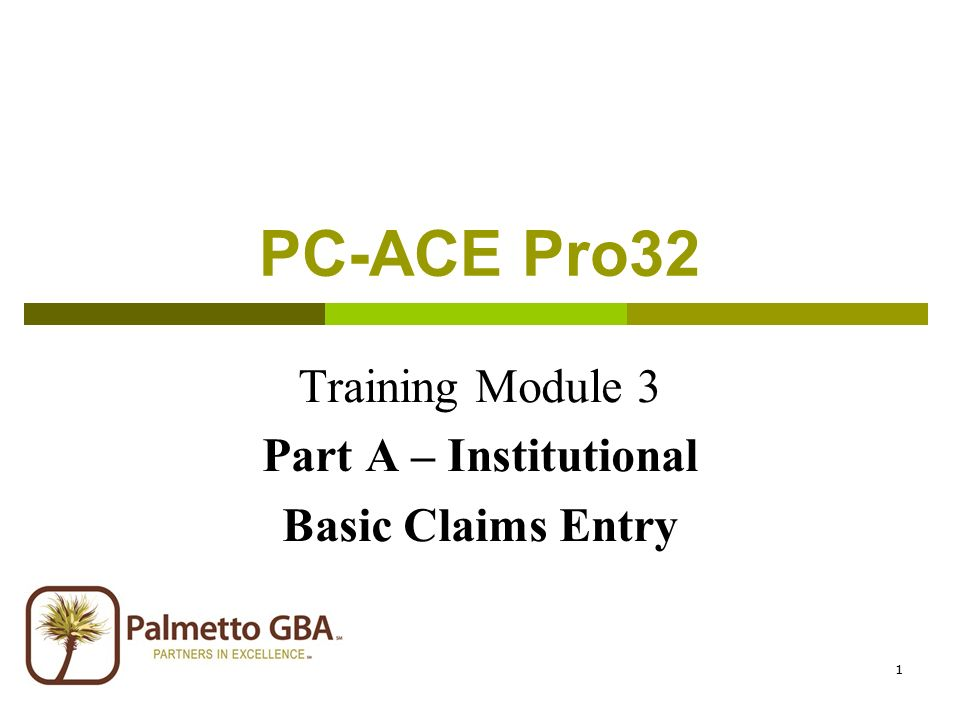 Welcome pc-ace pro32 training ppt video online download.