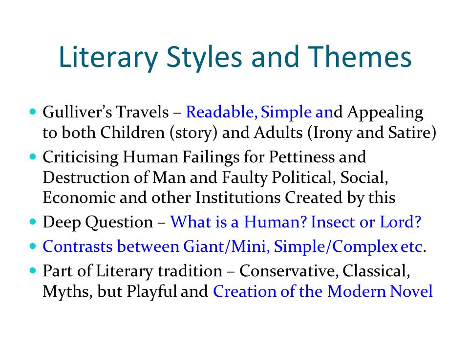 a literary analysis of the interesting questions in gullivers travels by swift Download free ebooks of classic literature, books and  and email newsletter gulliver's travels by jonathan swift gulliver's travels  although mr gulliver.