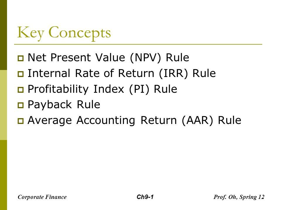 Investment criteria npv high interest investment