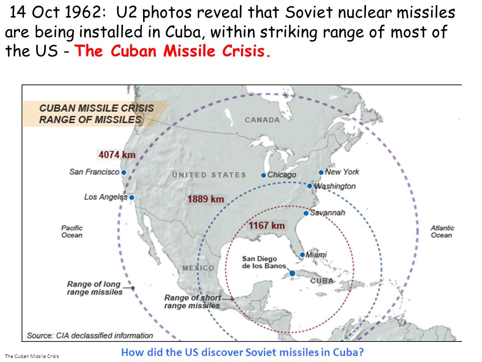 how did the us discover missiles in cuba
