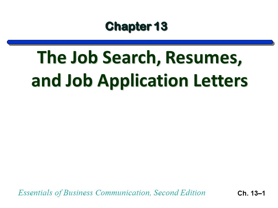 essentials of business communication second edition ch 13 1 the