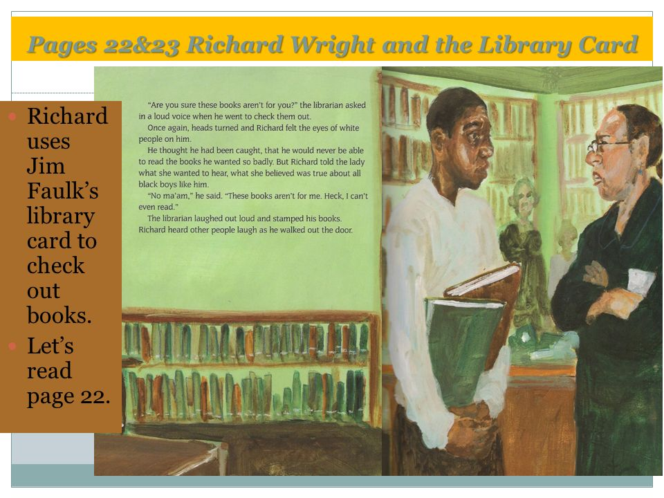 the library card by richard wright