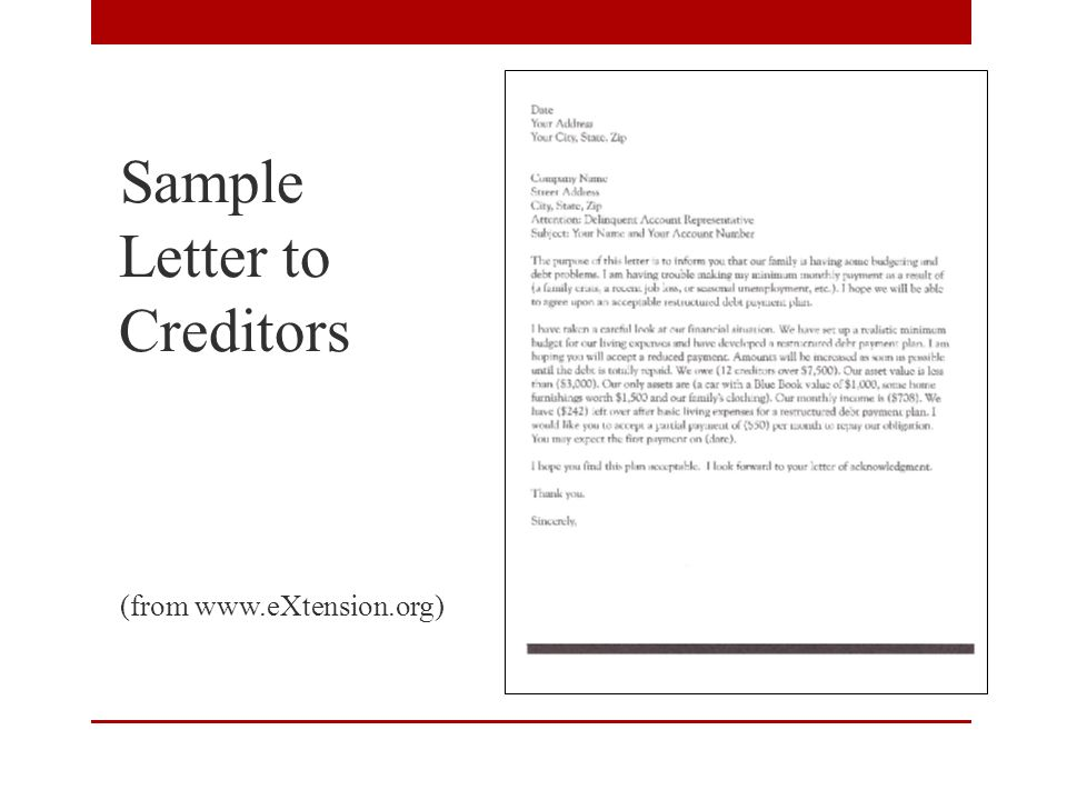 A financial fire drill planning for uncertain times ppt download 22 sample letter to creditors from extension spiritdancerdesigns Gallery