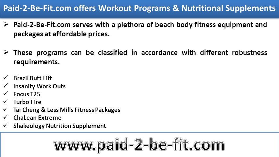 Welcome To Fitness Program The increasing necessity for