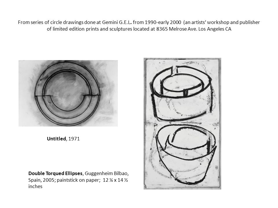 Richard Serra, Minimalist  Line Drawings, charcoal and