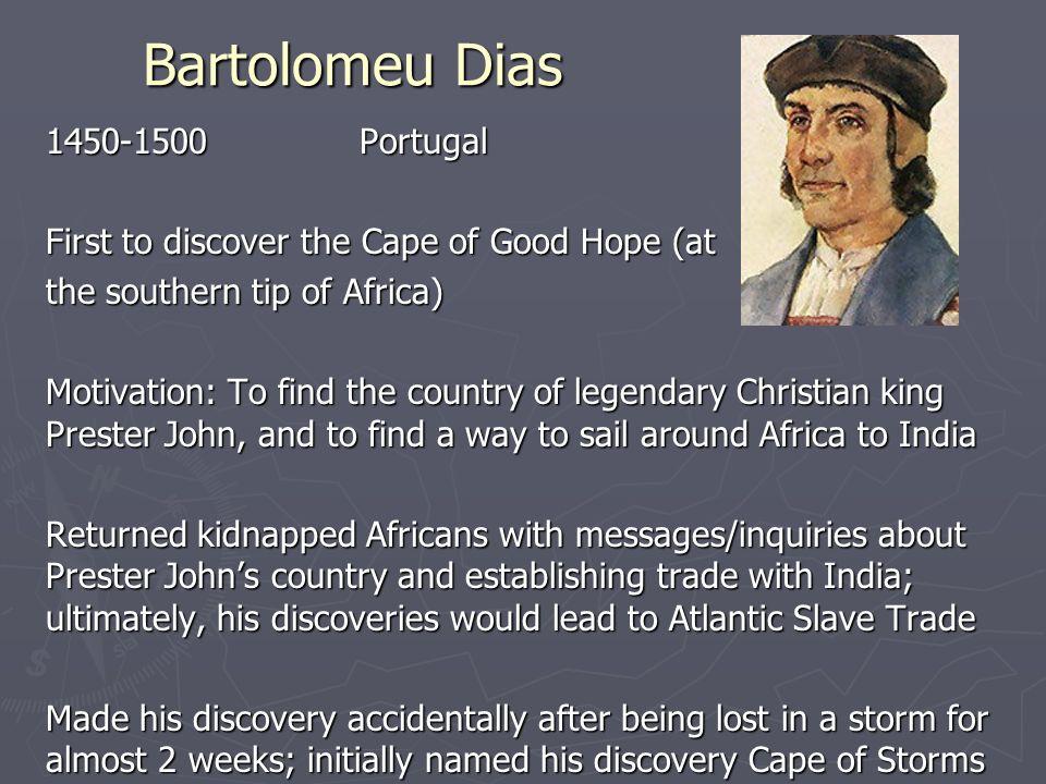 what did bartolomeu dias find