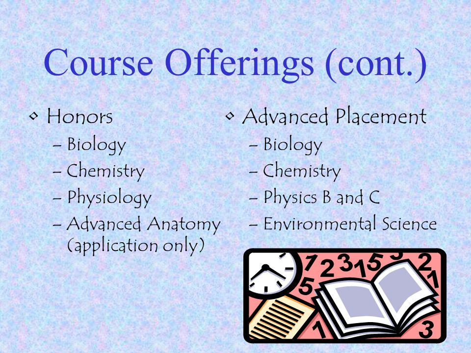 Westlake High School Science Department Course Offerings College ...