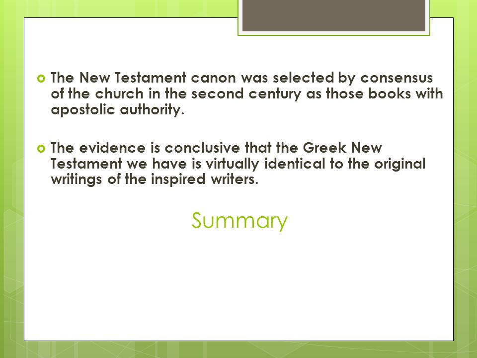 formation of the new testament canon summary