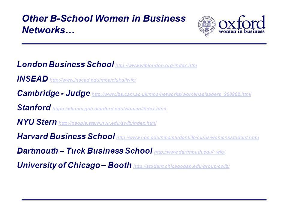 Women in Business Oxford Business Network Säid Business School