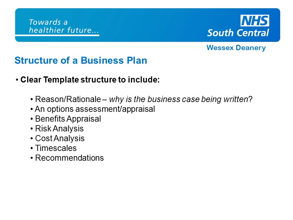 Wessex deanery how to write a business plan jo stevens business wessex deanery structure of a business plan clear template structure to include reasonrationale cheaphphosting Image collections