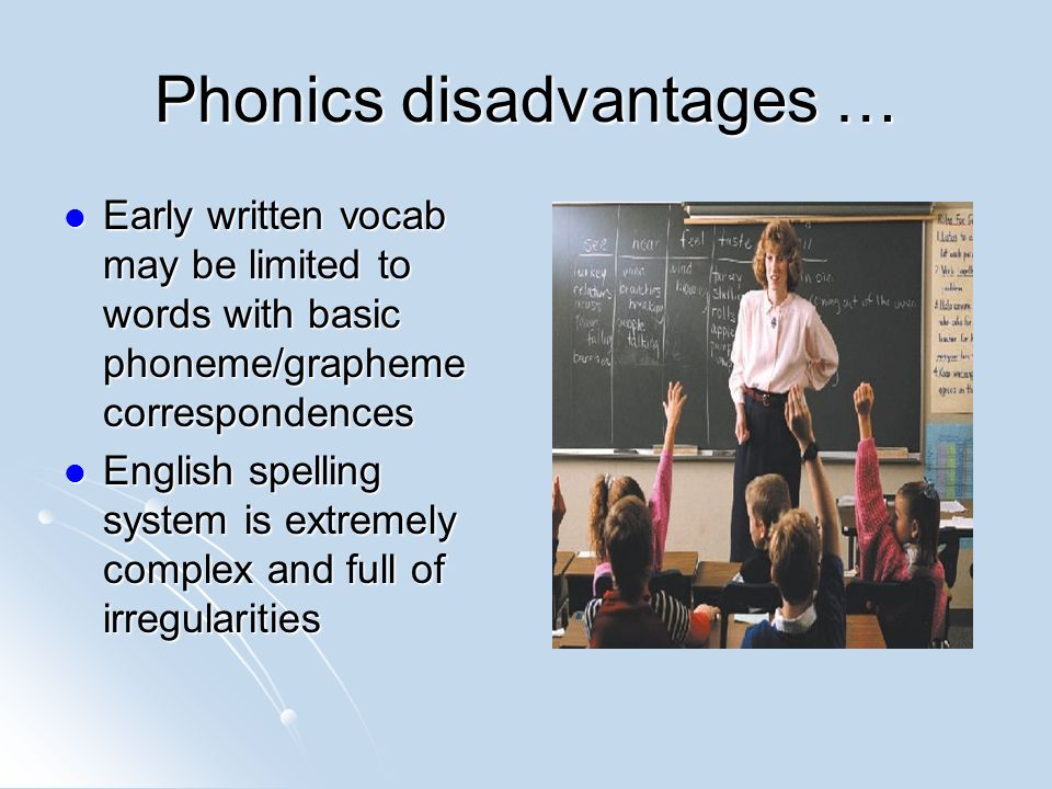 Disadvantages Of Analytic Phonics