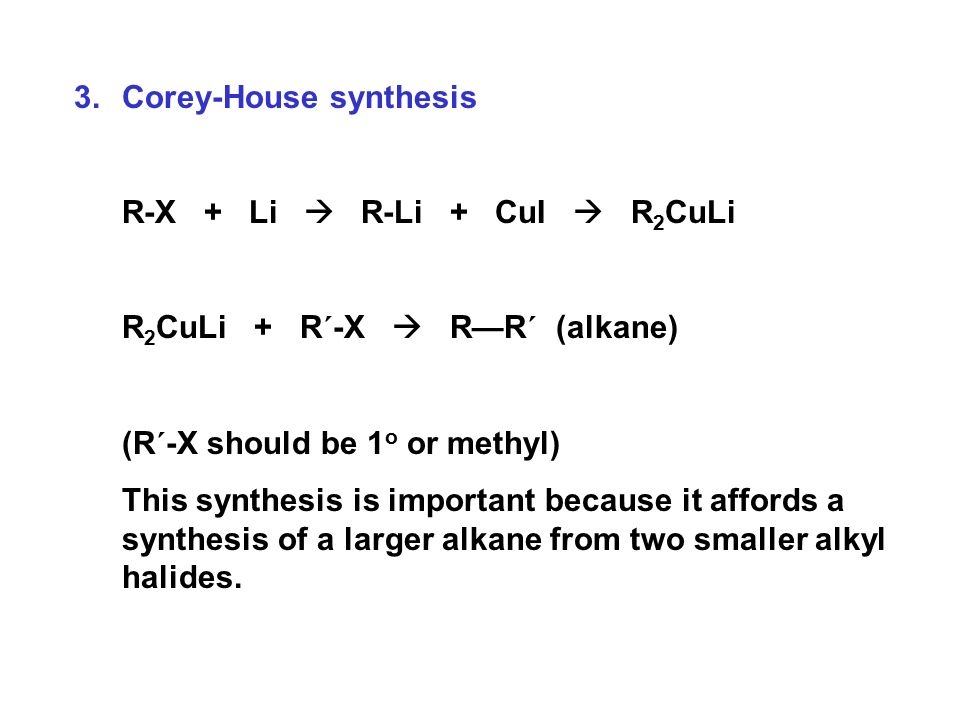 Chemistry | physical chemistry | 74657 what is corey-house synt.