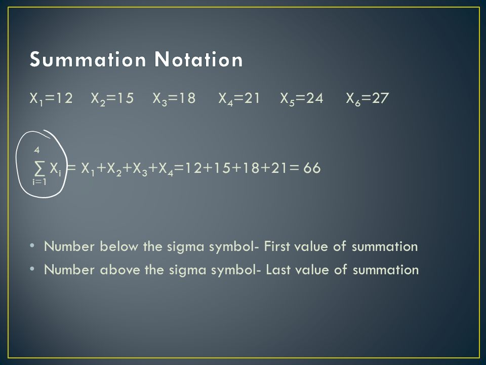Measures Of Center Sigma A Symbol For Sum Summation Notation