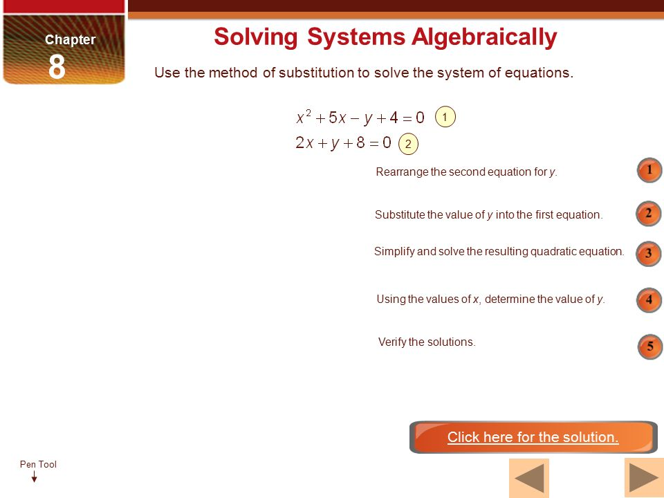 Pen Tool McGraw-Hill Ryerson Pre-Calculus 11 Chapter 8 Systems of