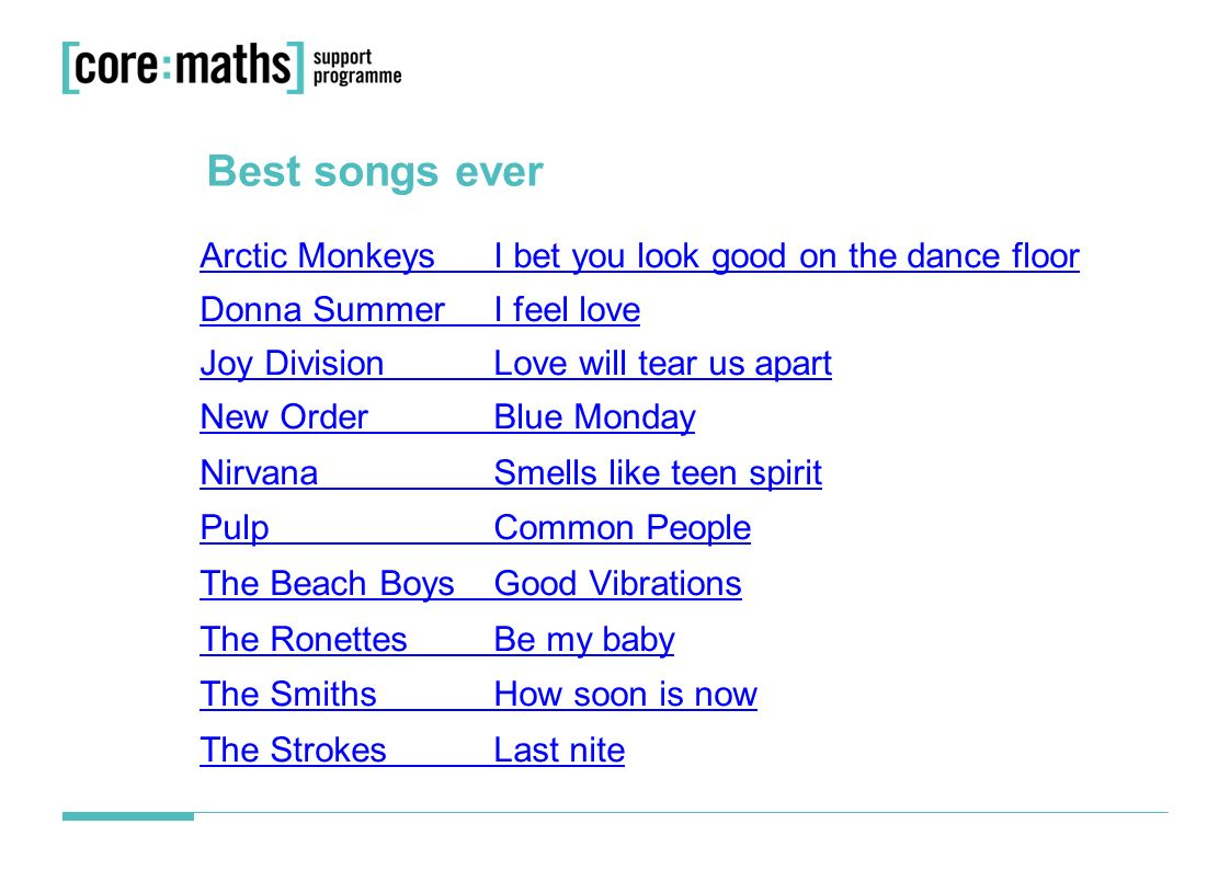Best songs ever? 1  Best songs ever  You are going to