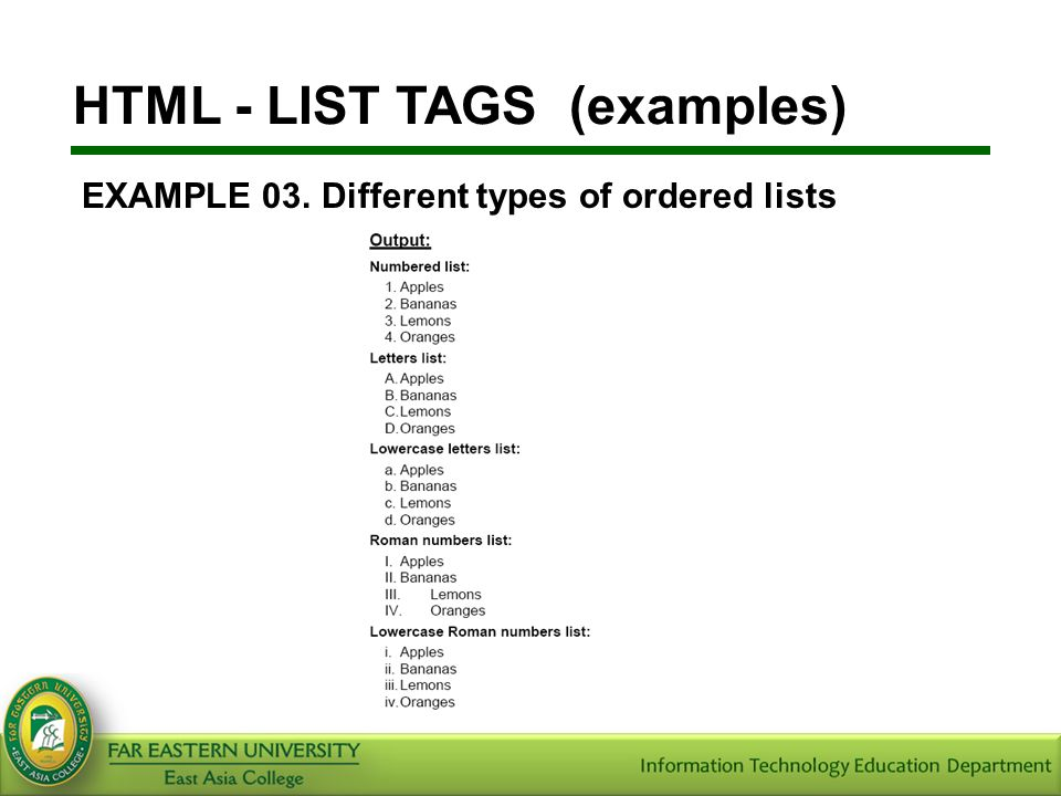 HTML TAG LIST WITH EXAMPLE PDF DOWNLOAD