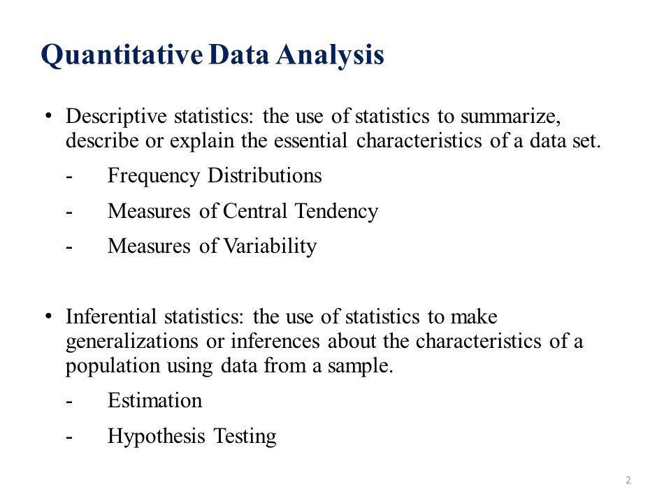 Sample of data analysis in quantitative research
