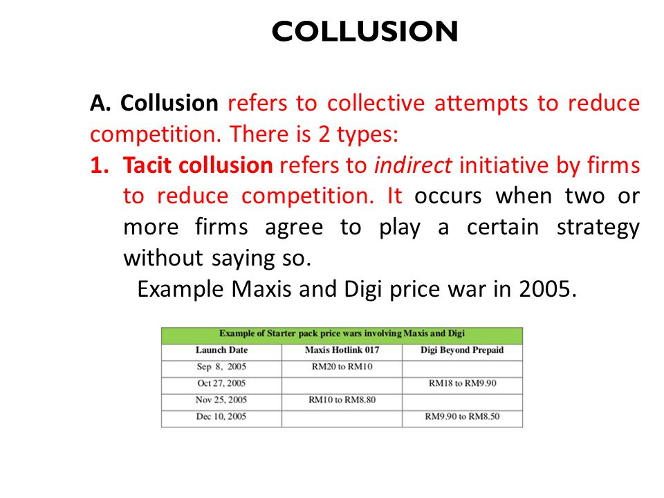 collusion examples