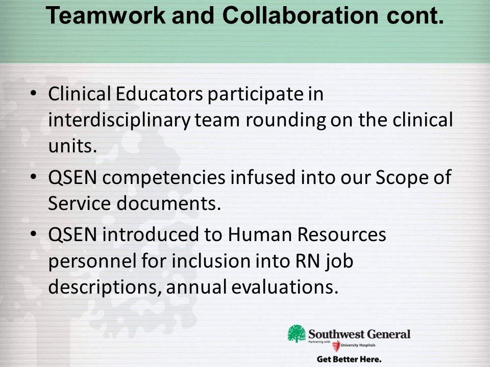 QSEN into Practice! Southwest General Health Center Middleburg