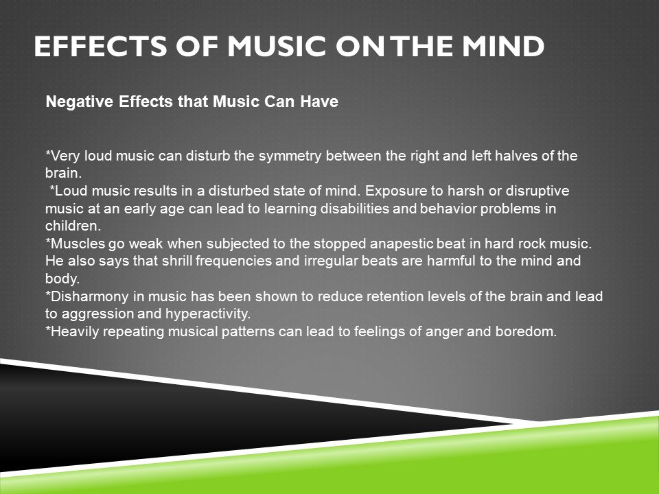 psychological effects of music on the brain