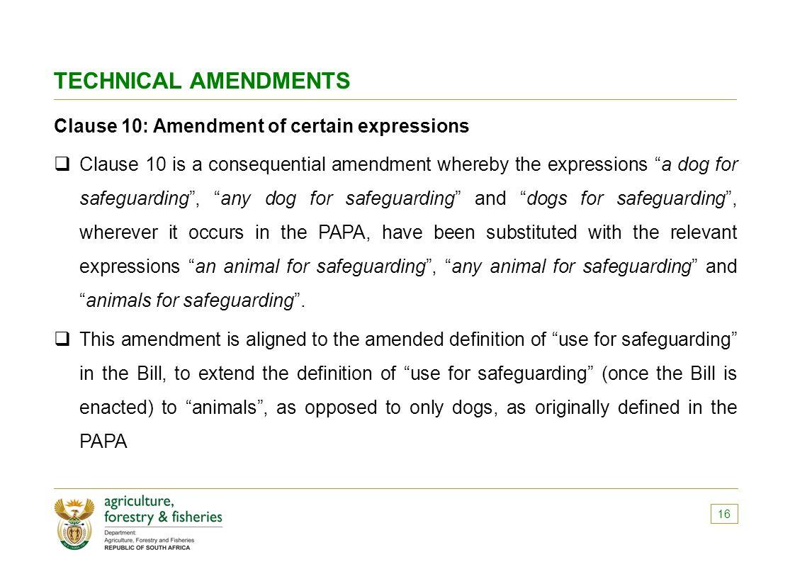 the performing animals protection (papa) amendment bill (b9-2015