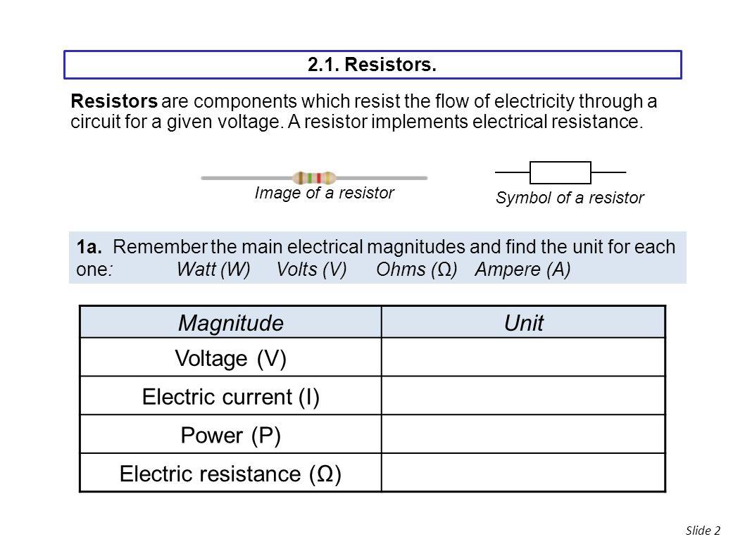 Slide 1 2alogue Electronics Slide 2 Magnitudeunit Voltage V