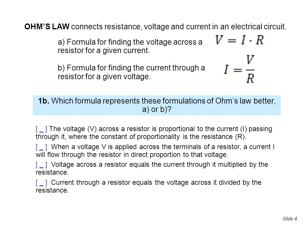 Slide 1 2analogue Electronics 2 Magnitudeunit Voltage V Electrical Resistance And Resistors 4 Ohms Law Connects Current In An Circuit