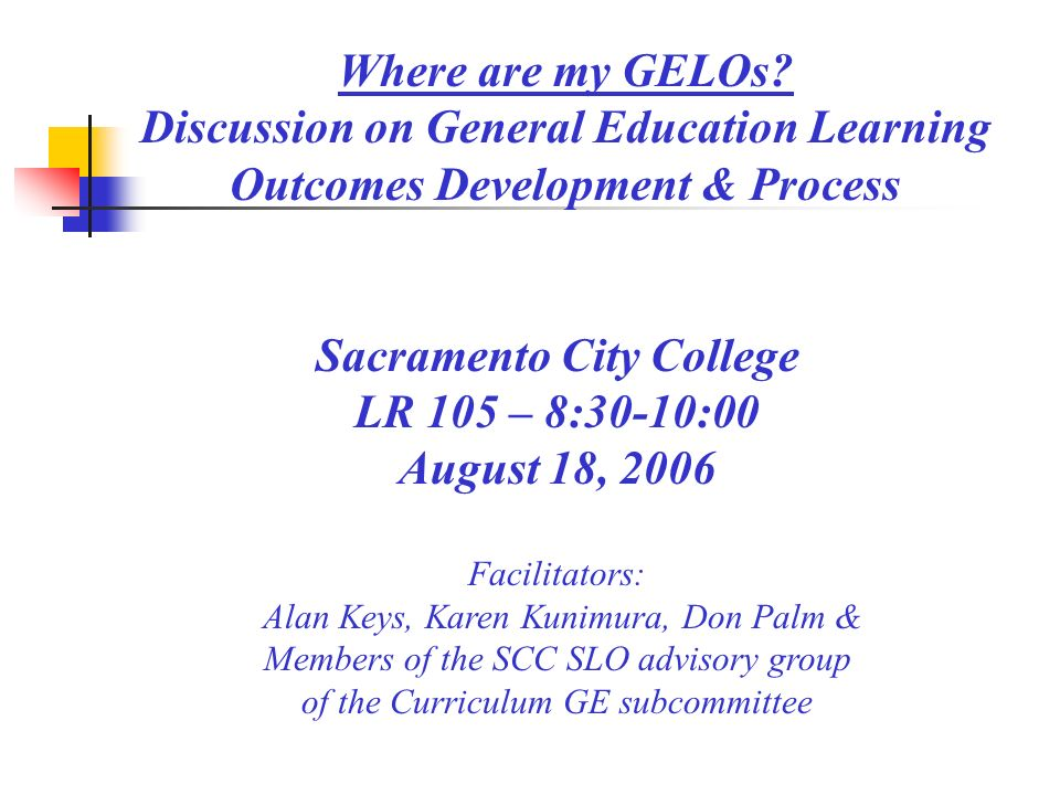 scc general education requirements