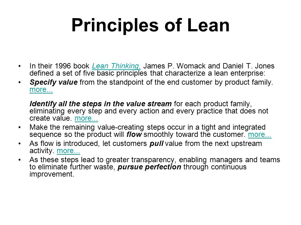 lean enterprise organization application Implementation of lean production in small sized enterprises  and shows then a preliminary study of the suitability of existing lean methods for the application in this type of organization the research was combined with an industrial case study in a small enterprise to analyse the difficulties in the implementation stage and to identify.