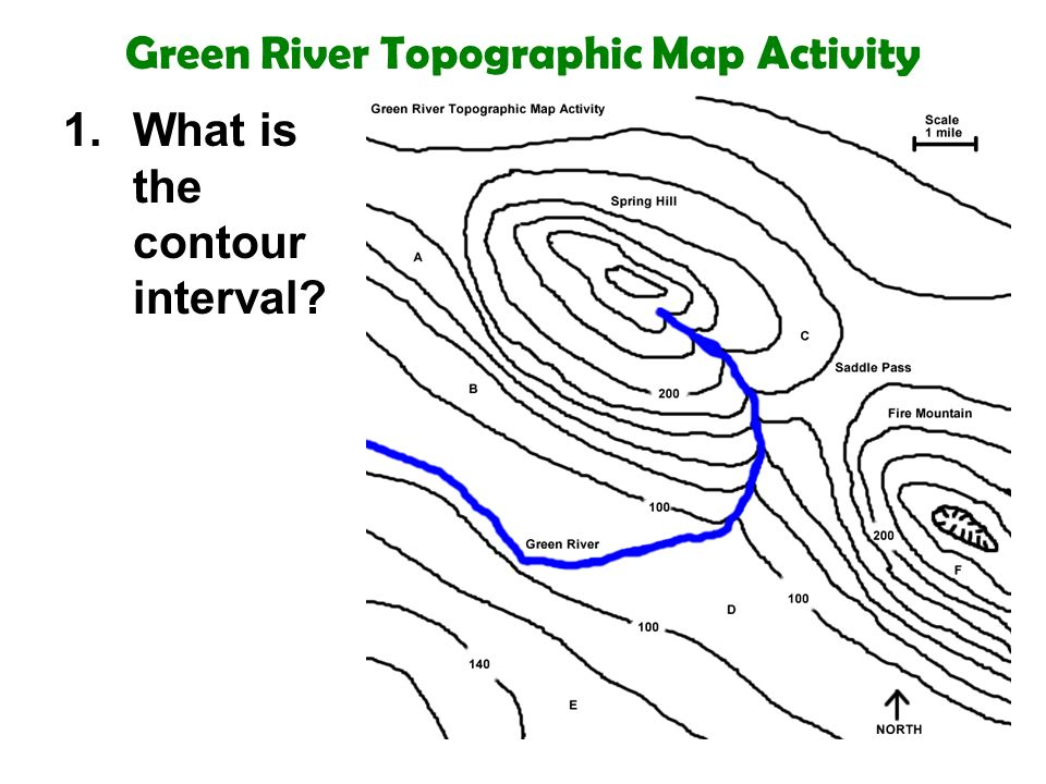 topographic map with river Green River Topographic Map Activity 1 What Is The Contour