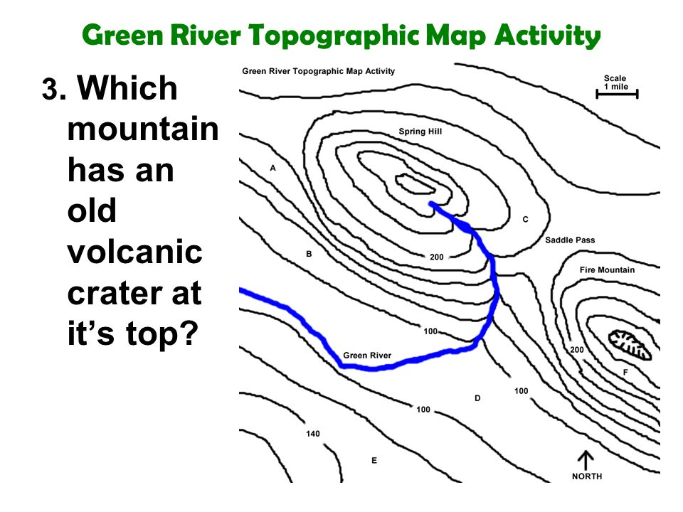 Volcano Topographic Map.Green River Topographic Map Activity 1 What Is The Contour Interval