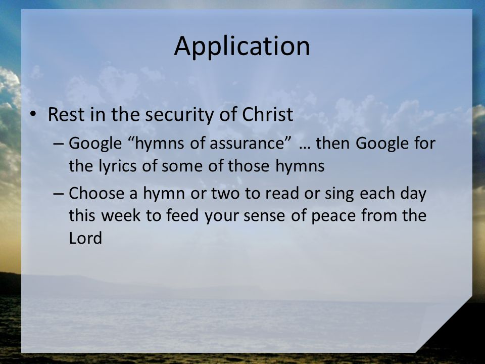 Lyric i choose the lord lyrics : Our Need for Peace April 3. Think about this … What kinds of ...